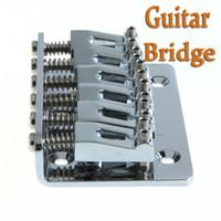 Wholesale Guitar Parts mm Chrome Strings Saddle Hardtail Bridge Top Load Guitar Accessories