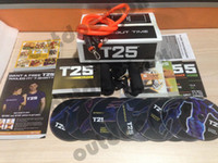 Cheap Focus T25 Workout 10 DVD Shaun T's Crazy Potent Slimming Training Set Fitness Video Body Exercise Alpha Beta Gamma Core Speed