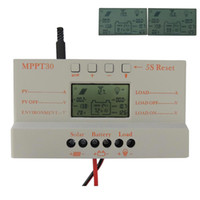 Wholesale LCD A MPPT Solar Panel Regulator Charge Controller V V W W With USB E3C062