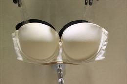 Wholesale push up bra brassiere transparent belt backless strapless bras fashion invisible bra girls demi lingerie