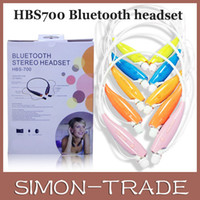 Wholesale HBS Electronical Sports Stereo Bluetooth Wireless Headset for Iphone S C LG samsung also sell HBS730 HB with package