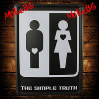 Cheap [ Mike86 ] The Simple Ture Metal Plaque Wall House Art decor House Pub painting Bar K-162 Mix Items 15*21 CM