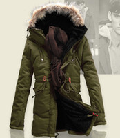 Wholesale Winter explosion models men cotton fashion casual long coat male cotton padded warm coats men thermal parkas winter