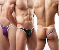 Wholesale New Summer Brand Men Thongs G Strings Sexy Underwear Mens Penis Pouch Briefs Underwear Jockstraps Masculine Underpants