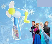 Wholesale Lowest Price Europe Frozen Elsa Fashion Cartoon Pink Blue Children Kids Hand Environmental Protection Fan
