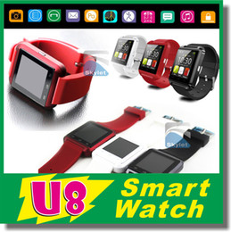 Wholesale U8 Bluetooth Smart Watch WristWatch For IPhone Note Note Android Phone Smartphones In Retail Box DHL Best Price