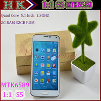 WCDMA Quad Core Android 5.1 inch HDC S4 1:1 i9500 Android 4.2.2 Jelly Bean Quad Core MTK6589 1.7GHz 1GB 16GB GPS WiFi 3G Single Micro-SimCard 8MP Camera Smart Phone