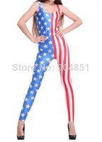 Acetate Regular Applique HOT 2013 SEXY Fashion Amerika Catsuit Teddy Overall Clothes Club Costume Jumpsuit For Women S126-21