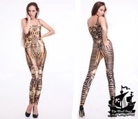 Acetate Regular Applique HOT 2013 SEXY Fashion KING TUT Catsuit Teddy Overall Clothes Club Costume Jumpsuit For Women S126-25