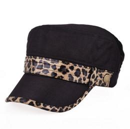 Wholesale Autumn fashion leopard hat lady hat explosion models flat cap flaxfor men and women Colors Free Size DG0586