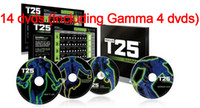 Cheap DVD Focus T25 Crazy Slimming Training Set 14 pieces Gamma T25 Body Building Slimming Fitness Teaching videos suit men and women learning