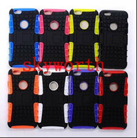 Wholesale Hybrid Heavy Duty Impact Armour Shockproof Soft Silicone PC Case Stand For iphone S Plus Samsung Galaxy S3 S4 S5 S6 Note HTC
