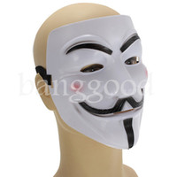 Wholesale White V for Vendetta Anonymous Cosplay Masks Halloween Costume Party Horror Halloween Carnival Masquerade