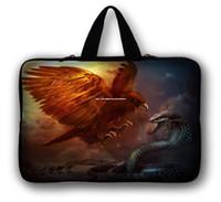 Wholesale 15 quot Eagle amp Snake Neoprene Laptop Netbook Soft Case Sleeve Bag Pouch Hide Handle For quot quot ASUS Acer HP Dell IBM Laptop PC