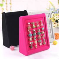 Wholesale Dimensional Ring Holder Wooden Ring Box Velvet Ring Tray Jewelry Display Props Earrings Stud Mobile Dust Plugs Display