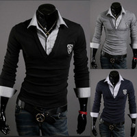 Wholesale Casual badge polo shirt new arrive cotton polo men long seelve boss clothing