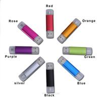 Wholesale 2 in Micro USB USB Flash Drive USB Flash Drives Colors USB2 Mini GB DTI USB Flash Drives Rotating lid HDA1015