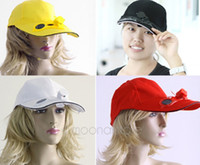 solar fan cap - Black Solar Power Hat Cap With Cooling Fan For Outdoor Golf Baseball Dropship Sports Wear Colors HM357
