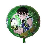 Wholesale 18inch Round Shape Ben Balloon Alien Force Helium Foil Balloons for Festa Aniversario