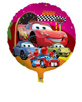 Wholesale 18inch Round Cartoon Car Aluminium Helium Party Balloons