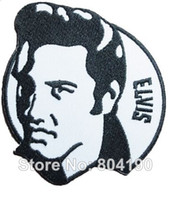 Wholesale 3 quot Elvis Presley Music Band Iron On Sew On Patch Tshirt TRANSFER MOTIF APPLIQUE Rock Punk Badge