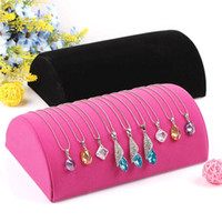 display racks - Velvet Pillow Bracelet Display Stand Necklace Holder Pendant Ornaments Jewelry Counter Display Rack Stand
