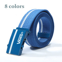 Wholesale Fashion Canvas belt Korean wild striped canvas belt fabric tide brand Canvas belt hot selling new Canvas belt