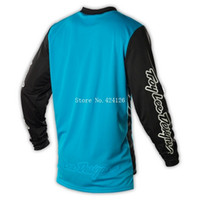 Wholesale New Troy Lee Designs GP Air Jerseys Hot Rod Blue Motorcycle Motocross Cycling DH MTB Bicicleta Ropa Ciclismo Mountain Bike Shirts