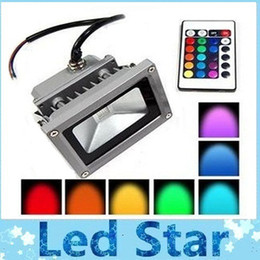 Wholesale Super Bright Waterproof W Outdoor Led Flood Lights RGB Floodlights Including Memory Function Landscape Lamp AC V Remote Control