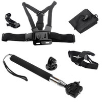 Wholesale Chest Harness Head Strap Mount Handheld Monopod Tripod Adapter J Hook Buckle bag for Gopro HD Hero Go pro accessories