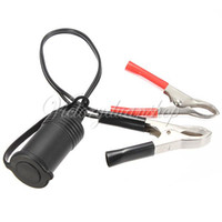 Wholesale 12V Power Car Motorcycle Motorbike Boat Cigarette Lighter with Cord Clip Female Socket Connector