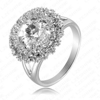 Band Rings Women's Wedding LZESHINE Brand Dazzling High Quality Ring Real Platinum Plated Costume Jewelry Fashion Women Rings With Stones ITL-RI0097