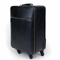 Wholesale Lu Biya genuine men first layer leather suitcase luggage trolley caster board chassis business
