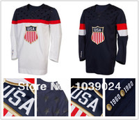 Ice Hockey Men Full Olympic USA Hockey Jersey White Stitched 2014 Sochi Team USA Hockey Jersey Best Quality New American Olympic Hockey Jersey White