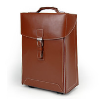 Wholesale Lu Biya genuine men leather suitcase trolley suitcase board chassis casual business