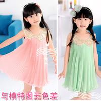 al por mayor muñecos tutús-el envío libre de 5 pedazos / porción Vestidos de la muchacha del verano de la ropa de lentejuelas de los niños, muñecas vestido de gasa plisada NVTONGR026