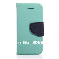 For Apple iPhone Leather Case Luxury Magnetic Flip Genuine Leather PU Case Wallet Back Plastic Cover Bag Protector Credit Card Holder Stand For iPhone 5c