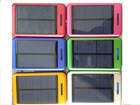Wholesale 10pcs led solar mobile power Dual USB Output Solar Charger can provide OEM ODM