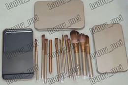 Wholesale Factory Direct Set New Makeup Brushes NO Pieces Brush With Iron Box