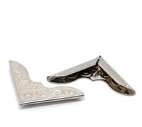 Wholesale 100 Silver Tone Book Scrapbooking Album Menu Folder Corner Protectors x23mm