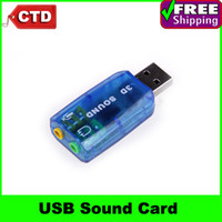 Wholesale USB Mic Speaker Virtual Channel Audio Sound Card Adapter