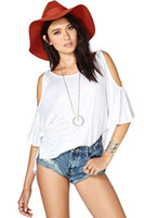 Women Polo Regular New 2014 Women Clothing Punk Women T-Shirt Women Shiny Strapless Sleeve Loose Bat Sleeve T Shirt Women Crop Top Plus Size