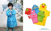 babies raincoat - Baby Girls Boys Children Kids Toddlers Cartoon Animal Style Cute Raincoat Rainwear Rainsuit Poncho Waterproof