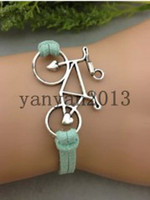 Gift bicycle rope - Bicycle ancient silver bangle bracelet Korean velvet rope woven bracelet personalized jewelry adjustable colors