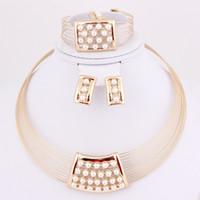 Cheap Bracelet,Earrings & Necklace pearl jewelry set Best Celtic Women's jewelry set