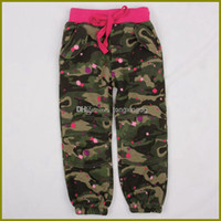 Casual Pants camo clothing - Nova new casual pants m y baby girls camo trousers children winter clothing brushed fleece Korean style pencil pants printing pant MELEE