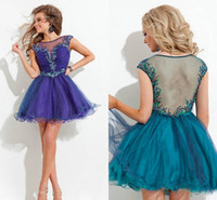 2015 Short Tulle Homecoming Dresses Sweetheart Cut Sheer Cre...