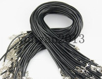 Celtic anniversary gifts waxes - Cheap Black Wax Leather Snake Necklace Beading Cord String Rope Wire cm Extender Chain with Lobster Clasp DIY jewelry components