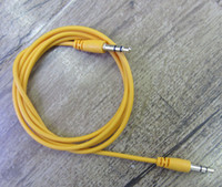 Wholesale colorful round cheap mm AUX audio cables male to male Stereo Car Extension audio Cable for MP3 for phone mini