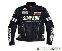 Wholesale 2014 SIMPSON SJ Spring Autumn section removable liner sleeve white motorcycle racing suits PU mesh cloth